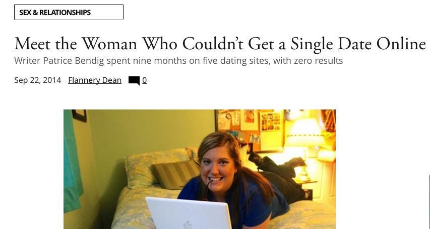 Patrice bendig i tried online dating